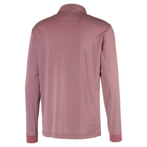 Thumbnail 5 of Herren Langarm Golf Polo, Rhubarb Heather, medium