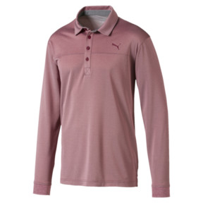 Thumbnail 4 of Herren Langarm Golf Polo, Rhubarb Heather, medium