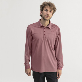 Thumbnail 1 of Herren Langarm Golf Polo, Rhubarb Heather, medium