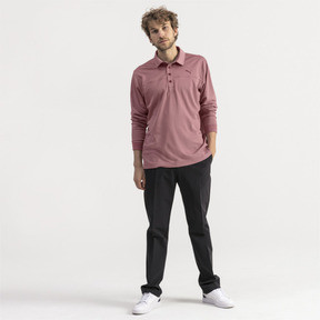 Thumbnail 3 of Herren Langarm Golf Polo, Rhubarb Heather, medium