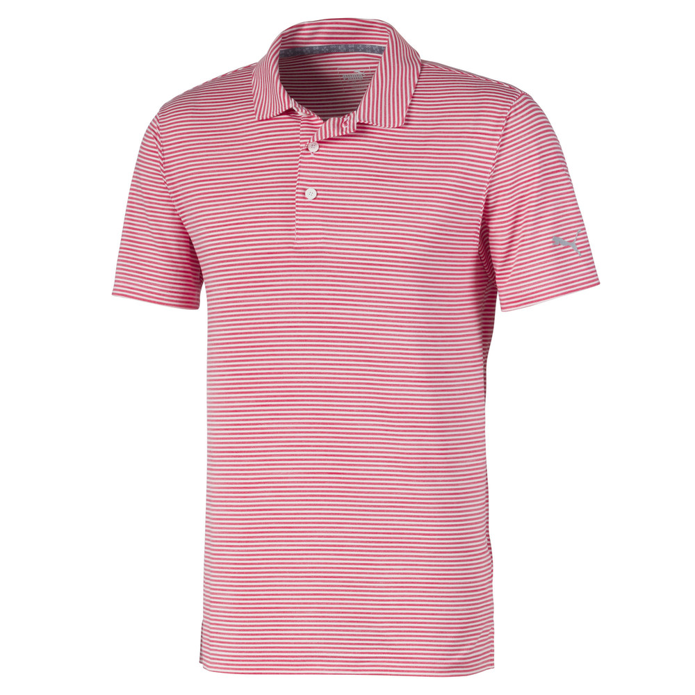 Image PUMA Caddie Striped Men's Golf Polo Shirt #1