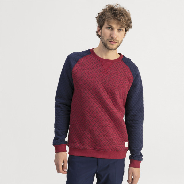 Sweat Golf matelassé pour homme, Rhubarb Heather, large