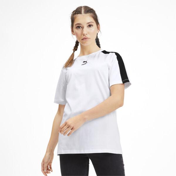 Camiseta Classics T7 para mujer, Puma White, grande