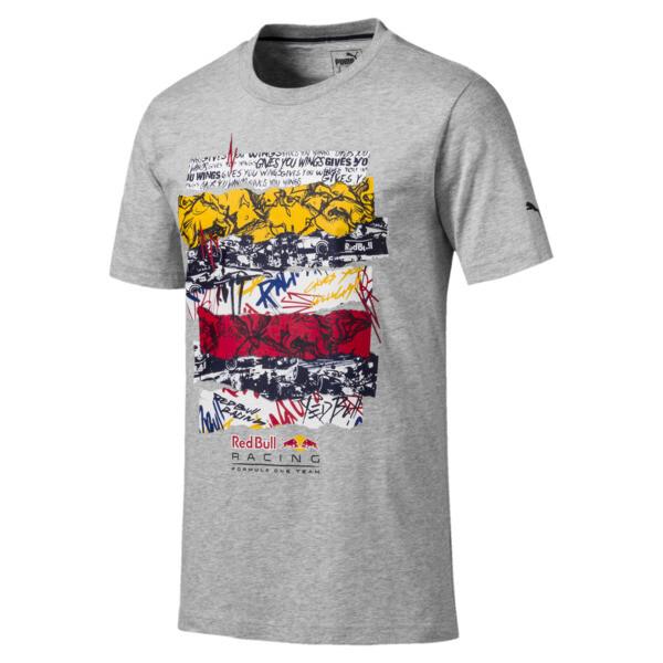 Camiseta Red Bull Racing Street para hombre, Light Gray Heather, grande