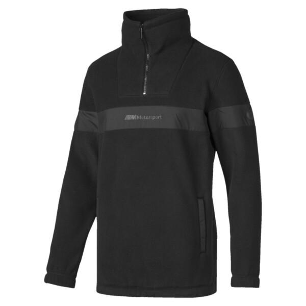 BMW M Motorsport RCT Men's Tech Fleece Pullover, Puma Black, large