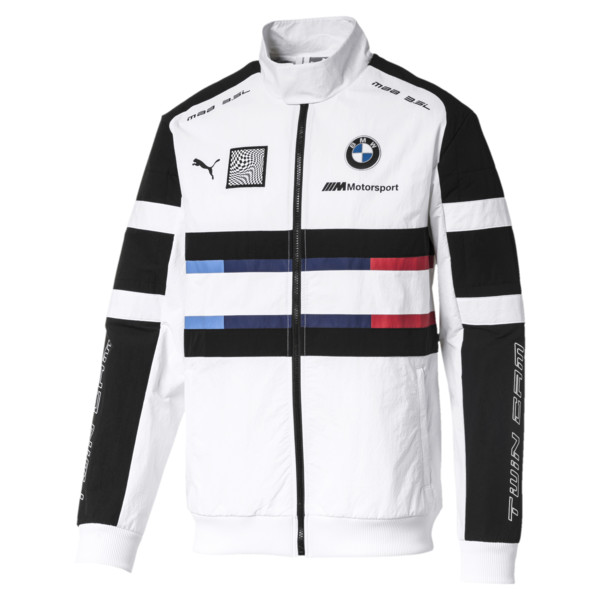 BMW M Motorsport Street Men's Woven Jacket, Puma White, large