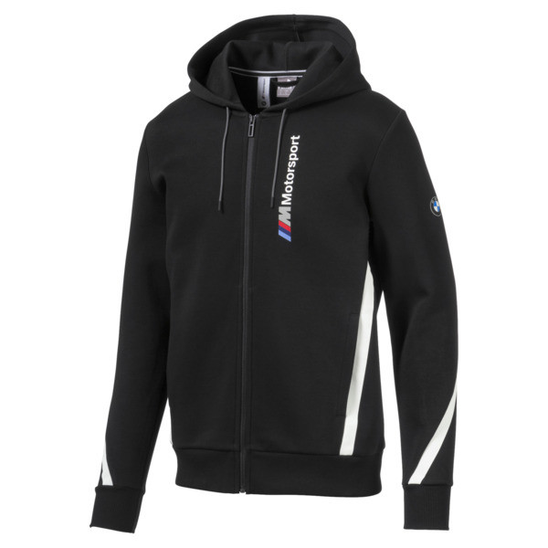 Chaqueta deportiva BMW M Motorsport con capucha para hombre, Puma Black, grande