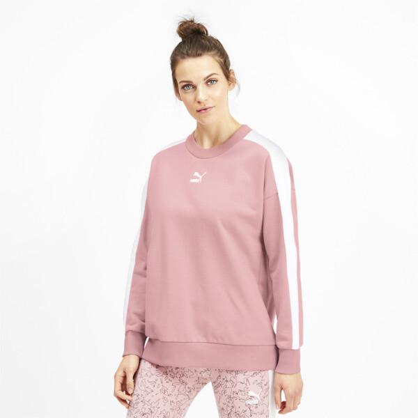 Classics T7 Crew Neck Women's Sweater, Bridal Rose, large
