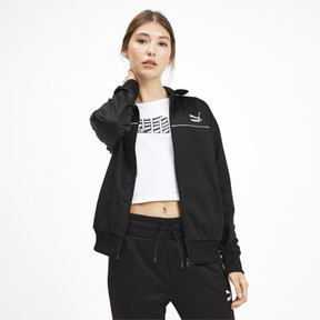 Thumbnail 2 of Classics Poly Women's Track Jacket, Puma Black, medium