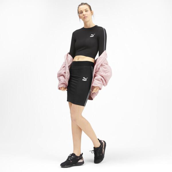 Jupe côtelée Classics pour femme, Puma Black, large