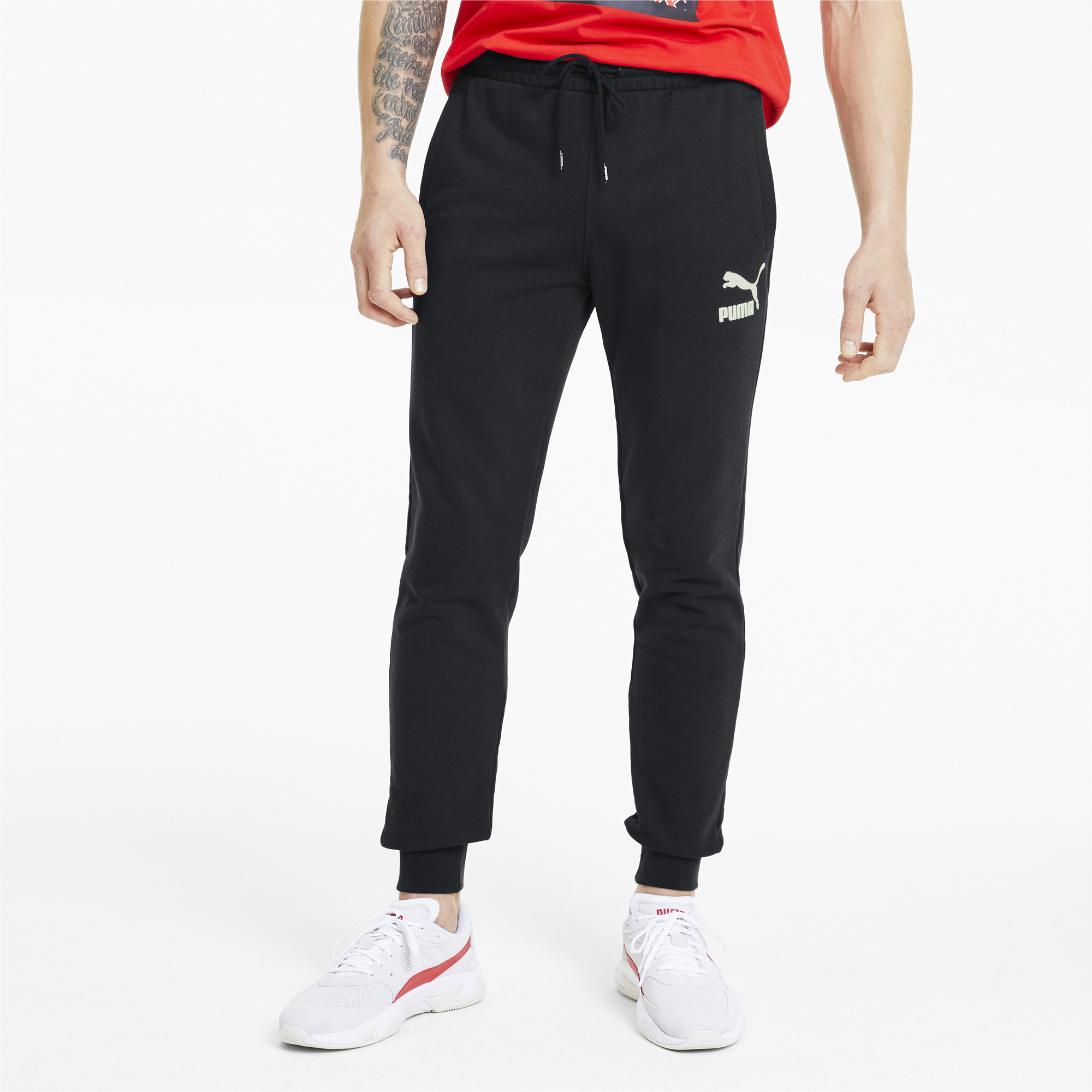 PUMA-Classics-Men-039-s-Cuffed-Sweatpants-Men-Knitted-Pants-Sport-Classics thumbnail 4