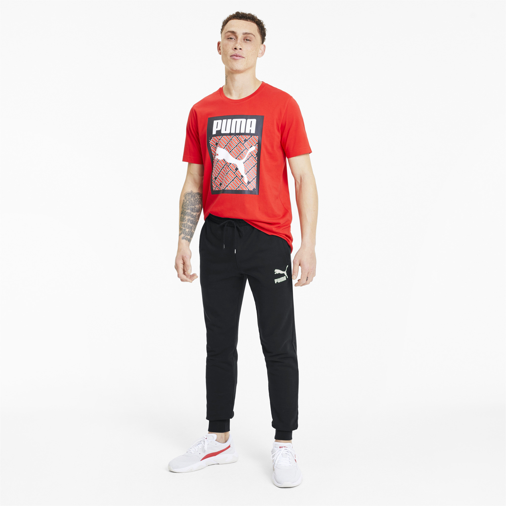 PUMA-Classics-Men-039-s-Cuffed-Sweatpants-Men-Knitted-Pants-Sport-Classics thumbnail 6
