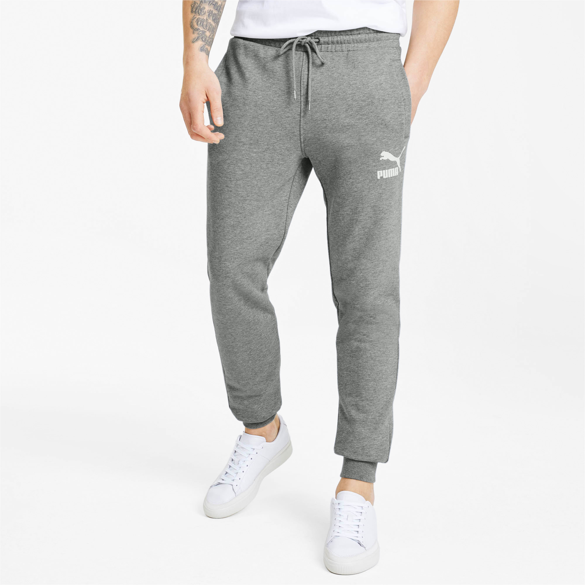 PUMA-Classics-Men-039-s-Cuffed-Sweatpants-Men-Knitted-Pants-Sport-Classics thumbnail 9