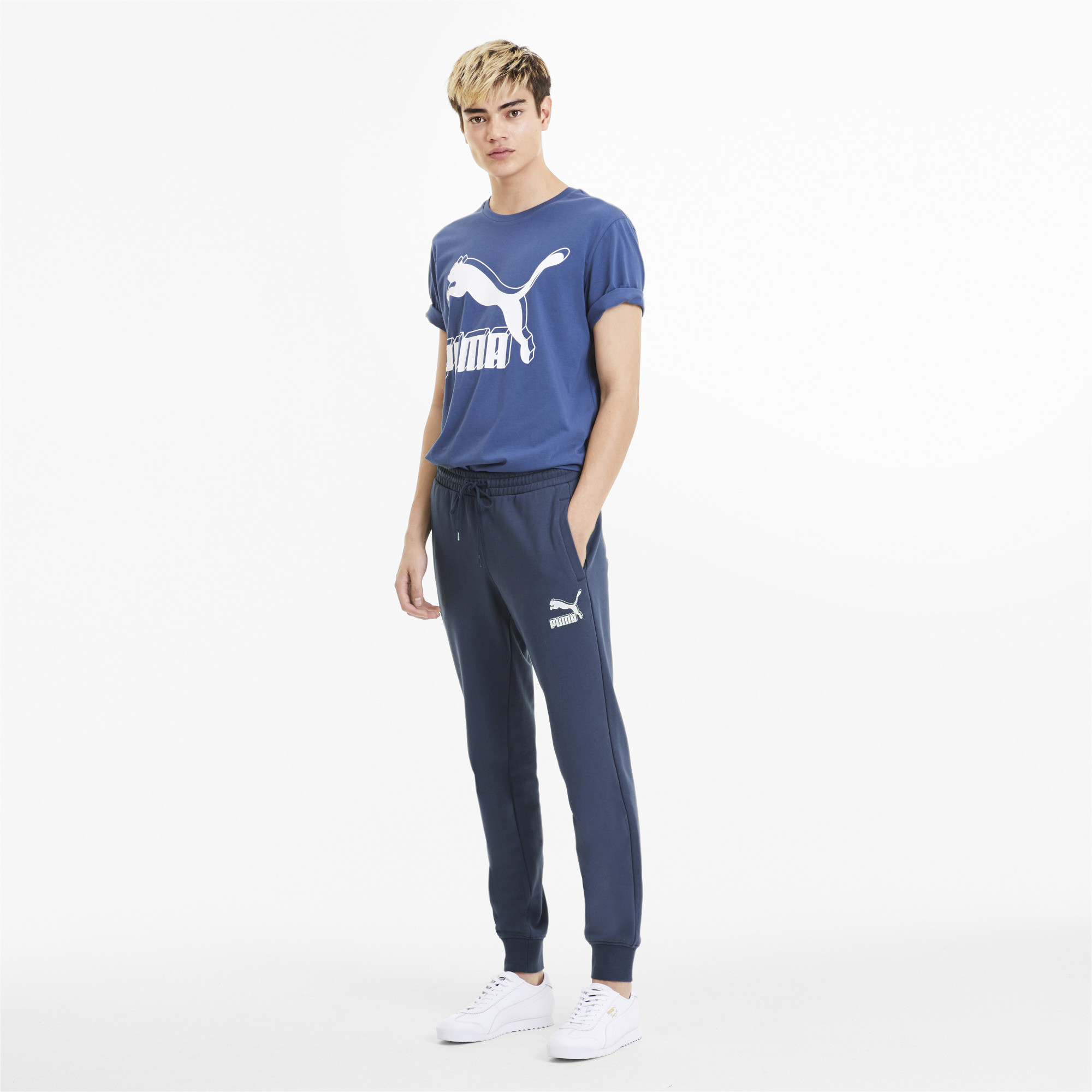 PUMA-Classics-Men-039-s-Cuffed-Sweatpants-Men-Knitted-Pants-Sport-Classics thumbnail 16
