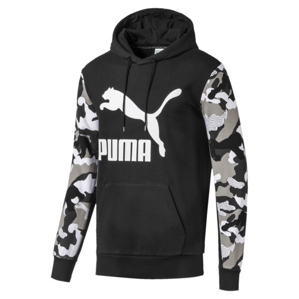 Chaqueta con capucha Classics AOP con estampa para hombre, Puma Black, grande