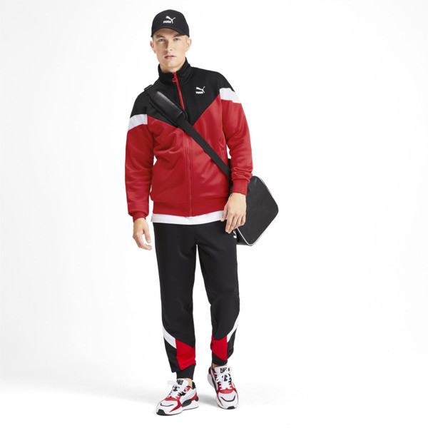 Chaqueta deportiva Iconic MCS de hombre, High Risk Red, grande