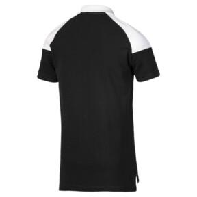 Miniatura 5 de Camiseta tipo polo MCS icónica de piqué para hombre, Puma Black, mediano