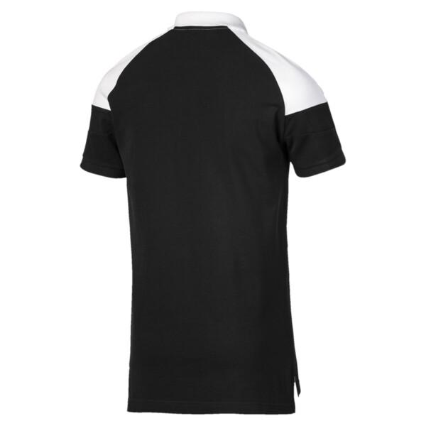 Camiseta tipo polo MCS icónica de piqué para hombre, Puma Black, grande