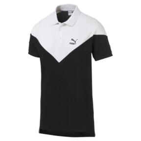 Miniatura 4 de Camiseta tipo polo MCS icónica de piqué para hombre, Puma Black, mediano