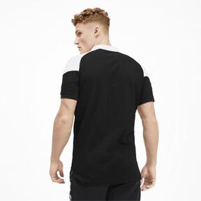 Miniatura 2 de Camiseta tipo polo MCS icónica de piqué para hombre, Puma Black, mediano