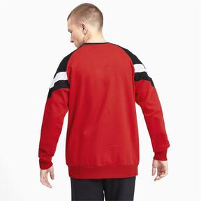 Miniatura 3 de Sudadera icónica MCS con cuello redondo para hombre, High Risk Red, mediano