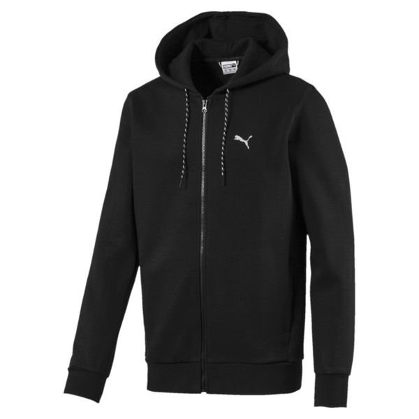 Epoch Long Sleeve Full Zip Men's Hoodie, Puma Black, large