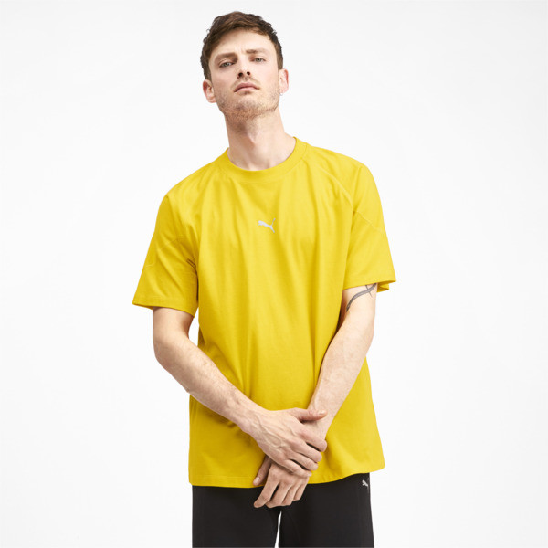 Epoch Short Sleeve Men's Tee, Sulphur, large