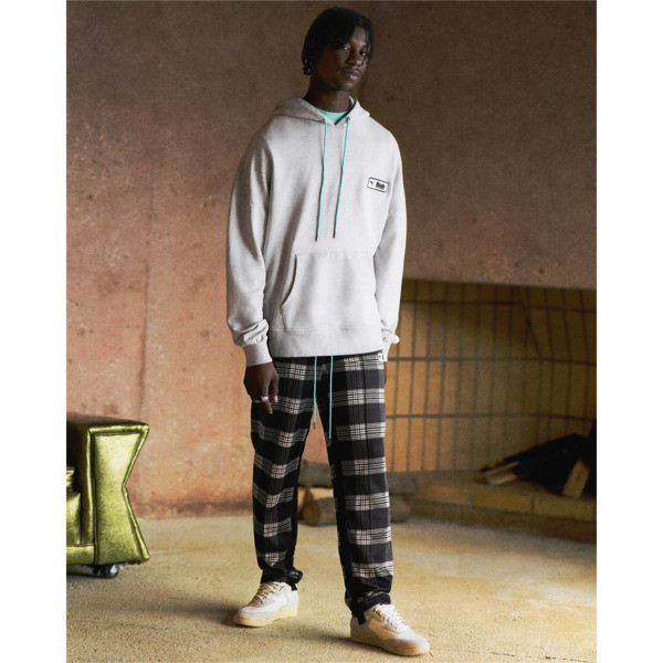 PUMA x RHUDE All-Over Print Knitted Men's Track Pants, Puma White AOP, large