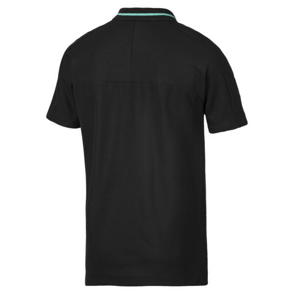 Camiseta tipo polo Mercedes AMG Petronaspara hombre, Puma Black, grande