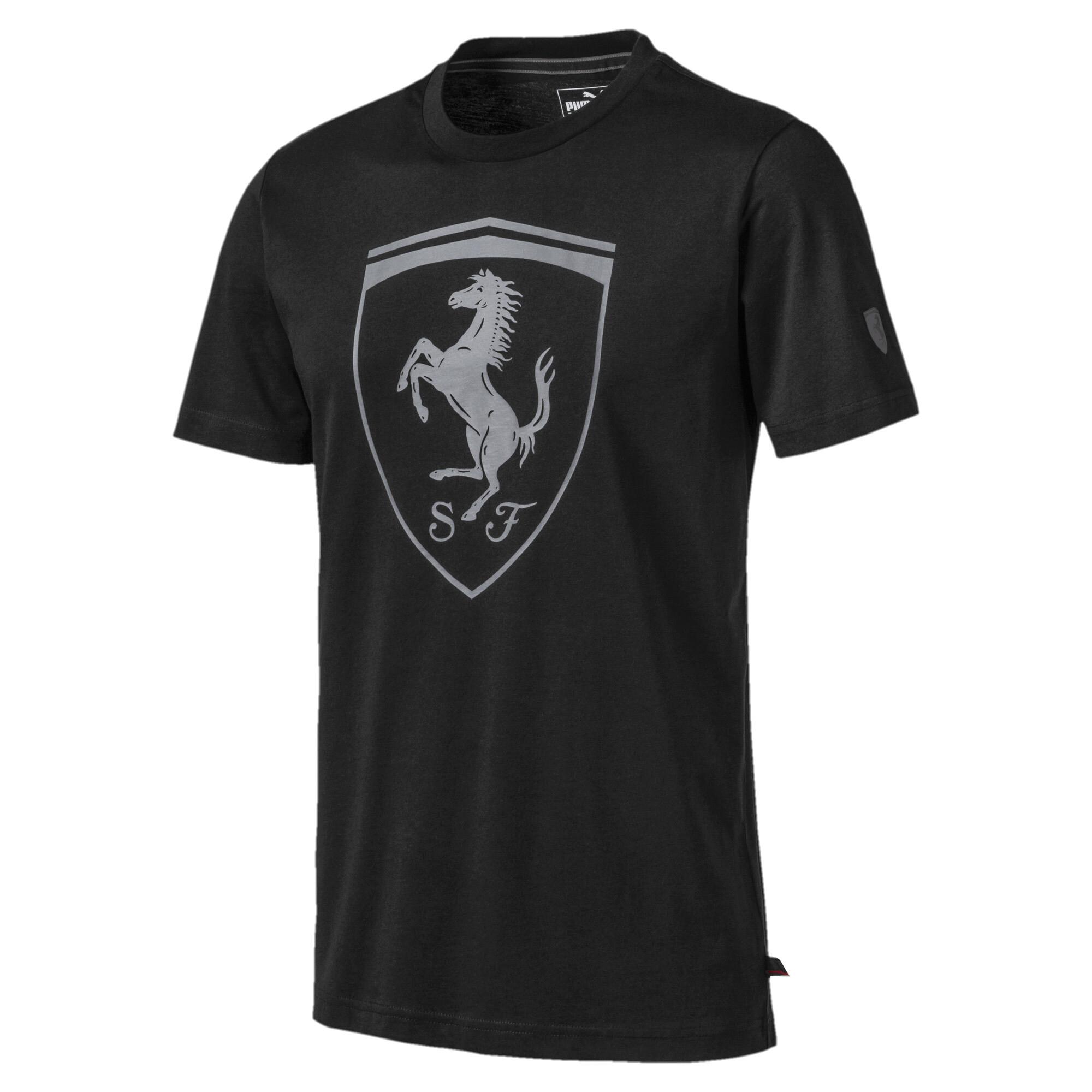 【プーマ公式通販】 プーマ フェラーリ ビッグ シールド Tシャツ 半袖 メンズ Puma Black |PUMA.com
