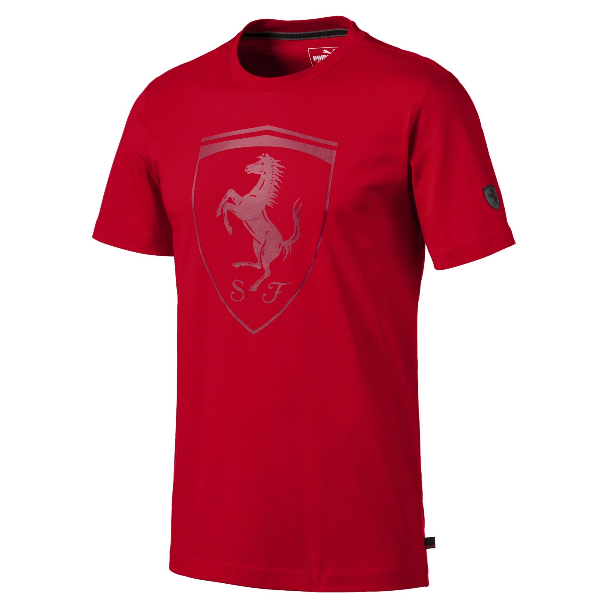 【プーマ公式通販】 プーマ フェラーリ ビッグ シールド Tシャツ 半袖 メンズ Rosso Corsa |PUMA.com