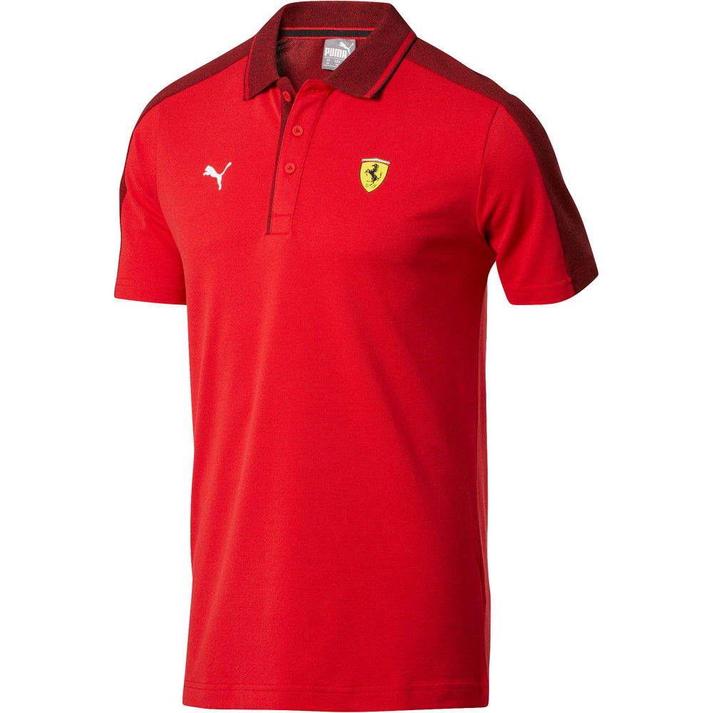 Image Puma Ferrari Short Sleeve Men's Polo Shirt #1