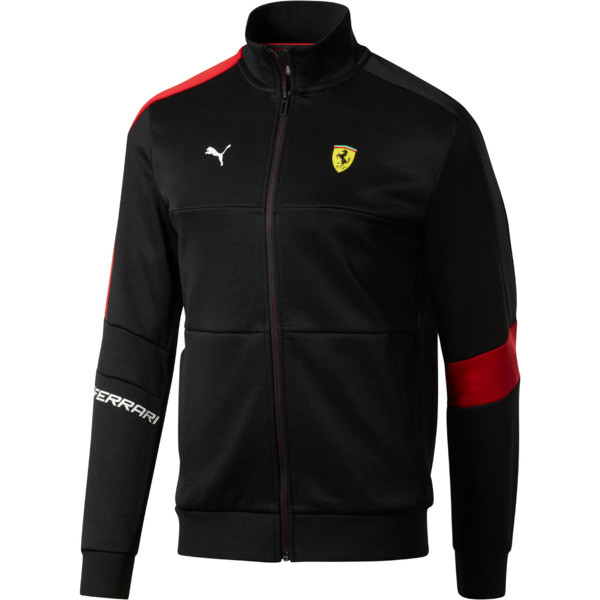 Chaqueta deportiva Scuderia Ferrari T7 para hombre, Puma Black, grande