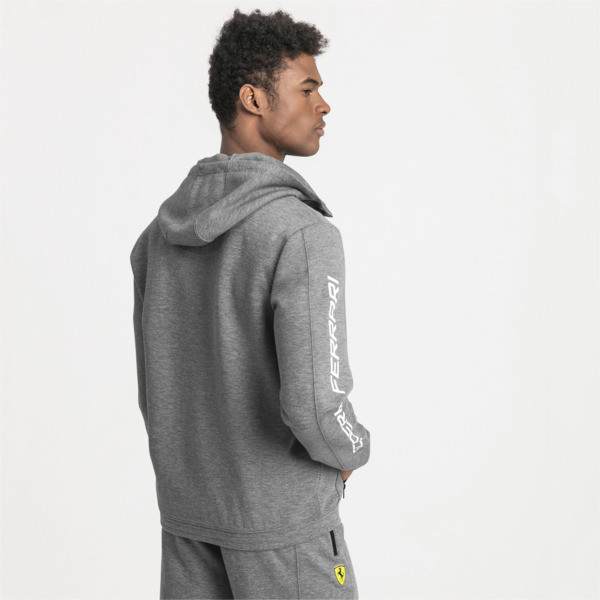 Blouson de sweat à capuche Ferrari pour homme, Medium Gray Heather, large
