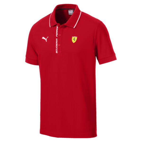 Camiseta tipo polo Scuderia Ferrari para hombre, Rosso Corsa, grande