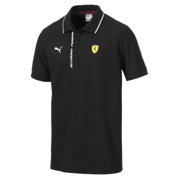 Camiseta tipo polo Scuderia Ferrari para hombre, Puma Black, grande