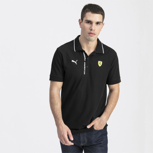 Ferrari Men's Polo Shirt, Puma Black, large