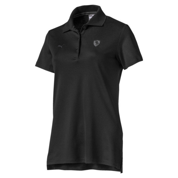 Camiseta tipo polo Scuderia Ferrari para mujer, Puma Black, grande