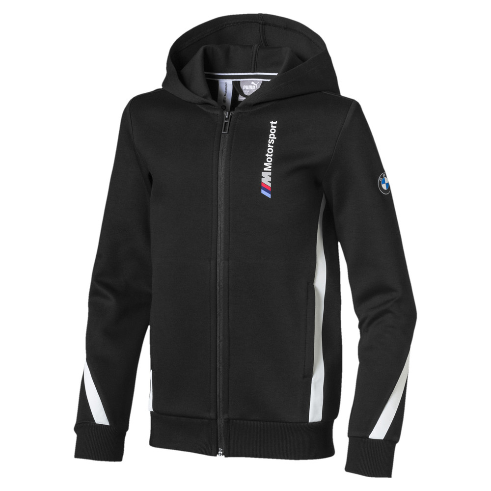 Image Puma BMW M Motorsport Hooded Boys' Sweat Jacket #1