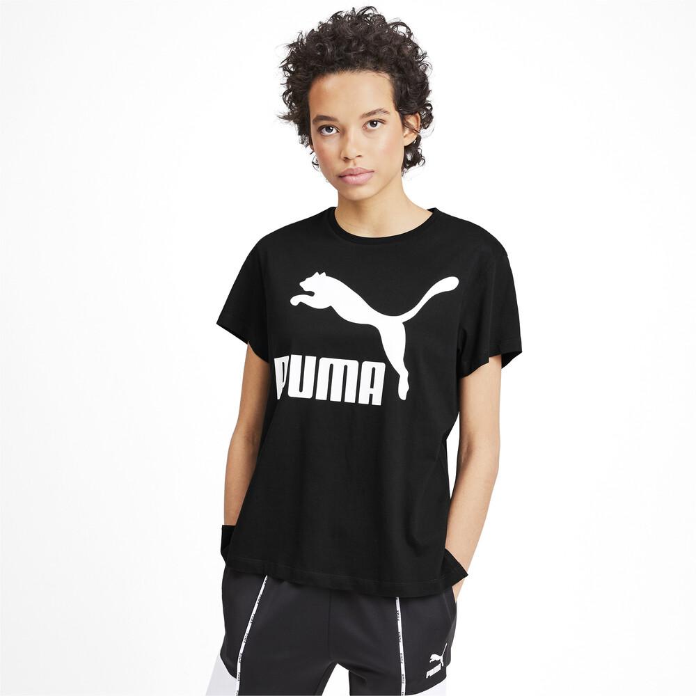 Image PUMA Camiseta Classics Logo Feminina #1