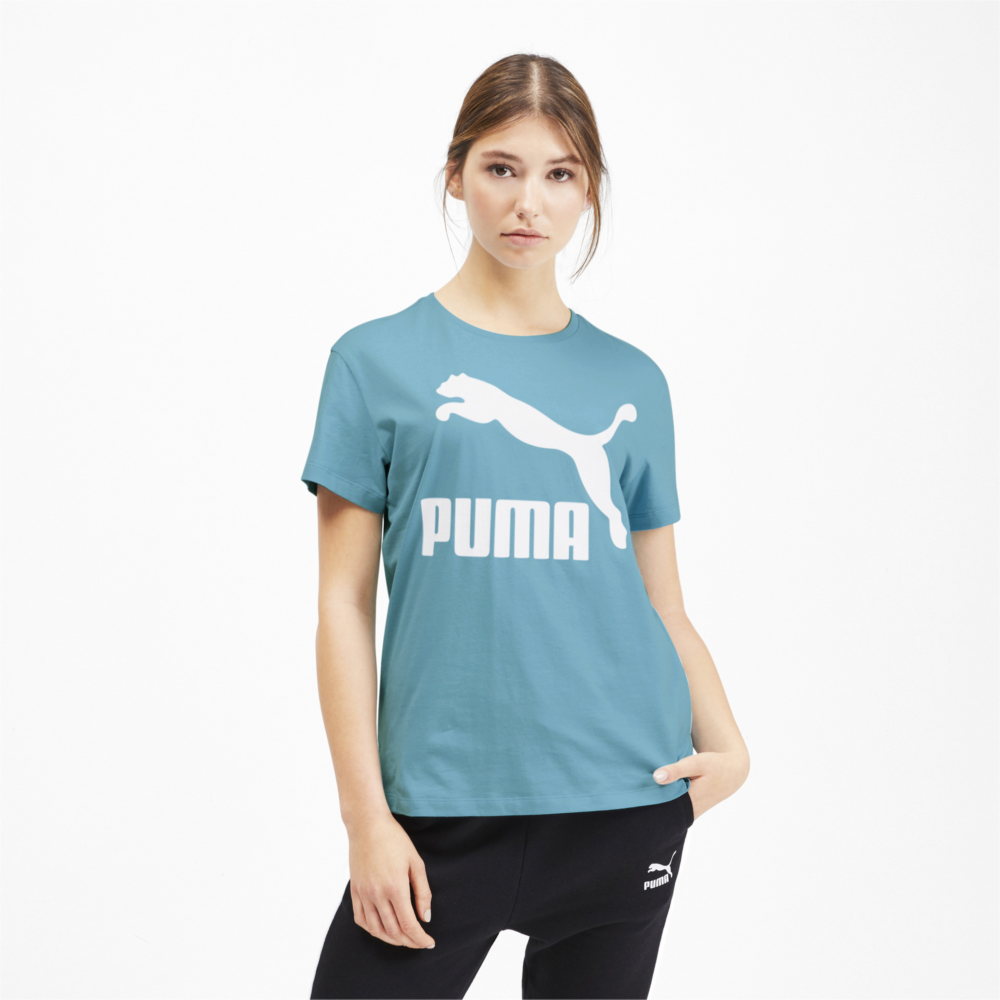 PUMA-Classics-Women-039-s-Logo-Tee-Women-Tee-Sport-Classics thumbnail 11