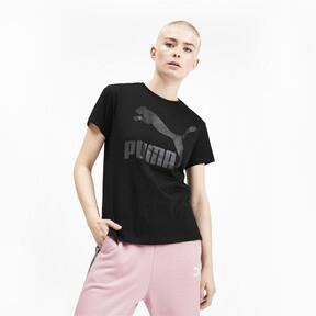Miniatura 1 de Camiseta Classics con logotipo para mujer, Puma Black, mediano