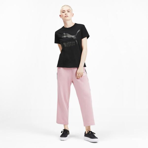Camiseta Classics con logotipo para mujer, Puma Black, grande