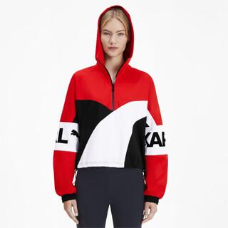 Görüntü Puma PUMA x KARL LAGERFELD XTG Kapüşonlu Yarım Fermuarlı Kadın Sweatshirt
