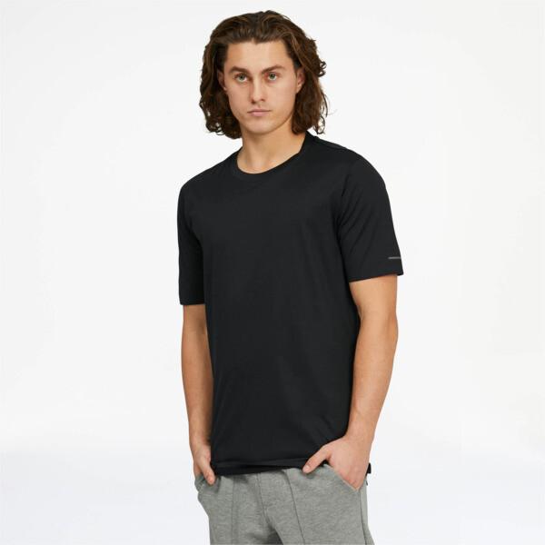 puma porsche design men's essential t-shirt in jet black, size m