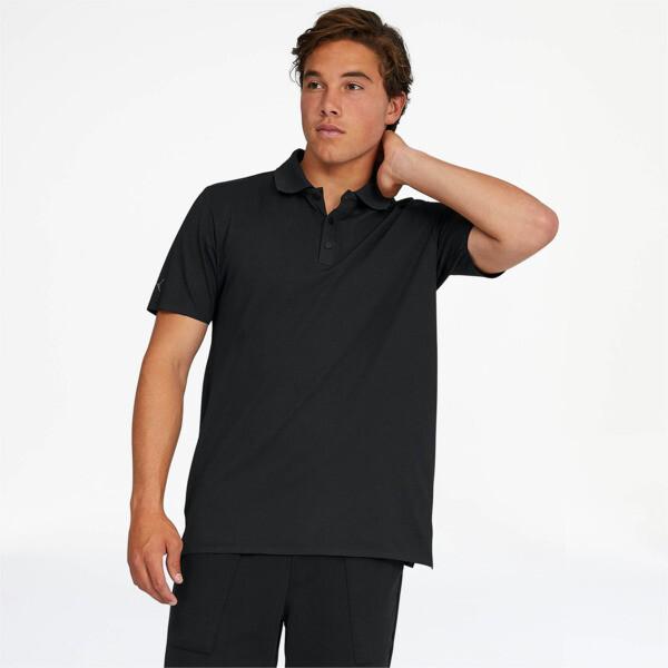puma porsche design men's polo in jet black, size l