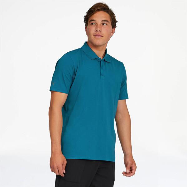 puma porsche design men's polo in moroccan blue, size m