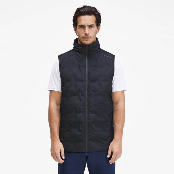 puma porsche design men's padded vest in dark blue, size m