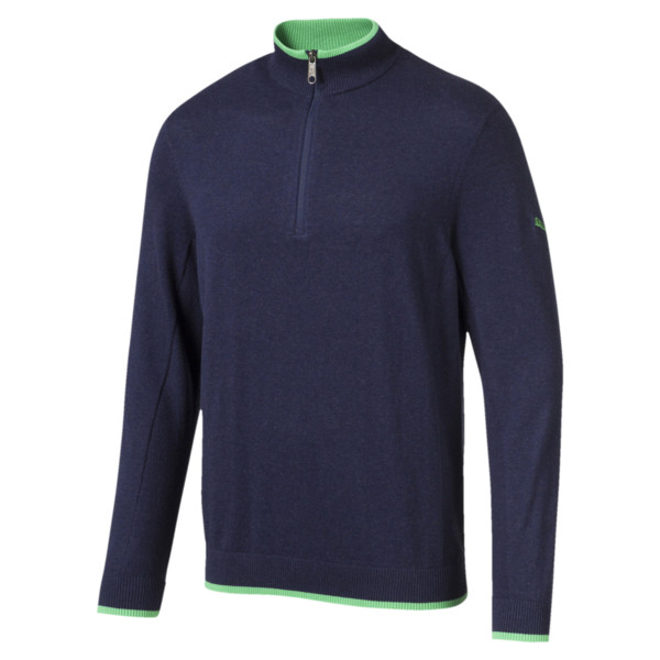 ゴルフ ダンルース 1/4 ジップ, Peacoat-irish green, large-JPN