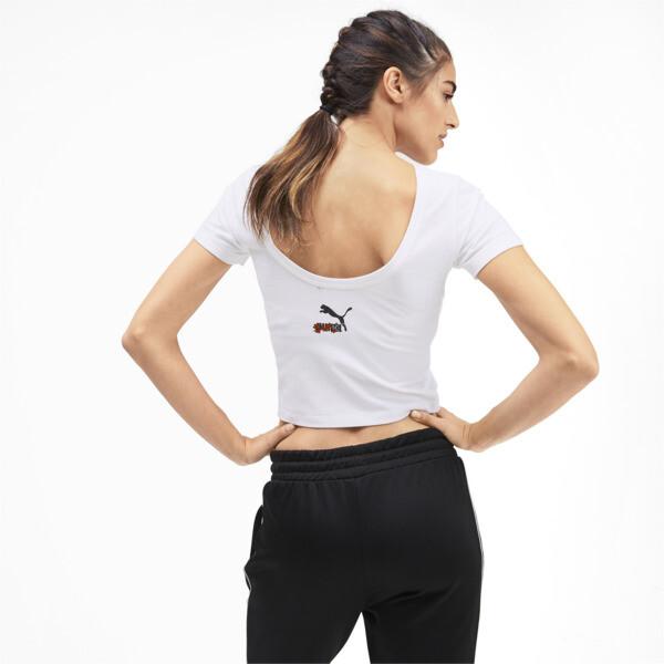 Camiseta de mangas cortasSakurapara mujer, Puma White, grande